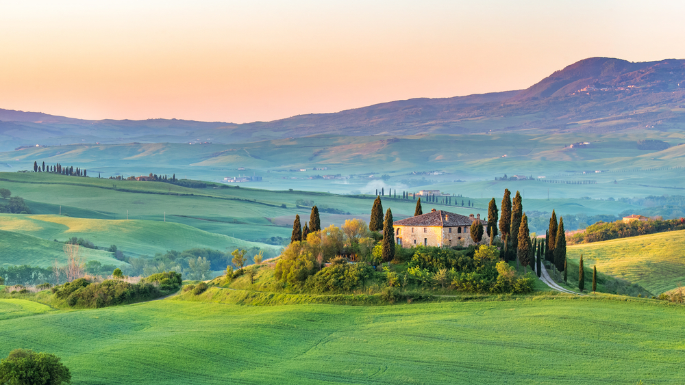 The beautiful Tuscan landscape