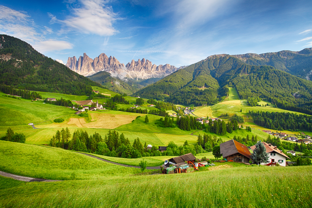 Photo of Dolomites, a more expensive area to stay when considering your trip to Italy cost.