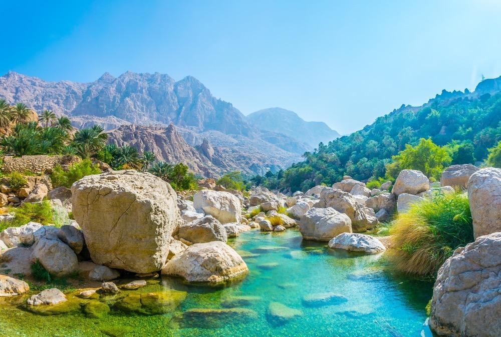 Pools at Wadi Tiwi, one of the prettiest wadis in Oman