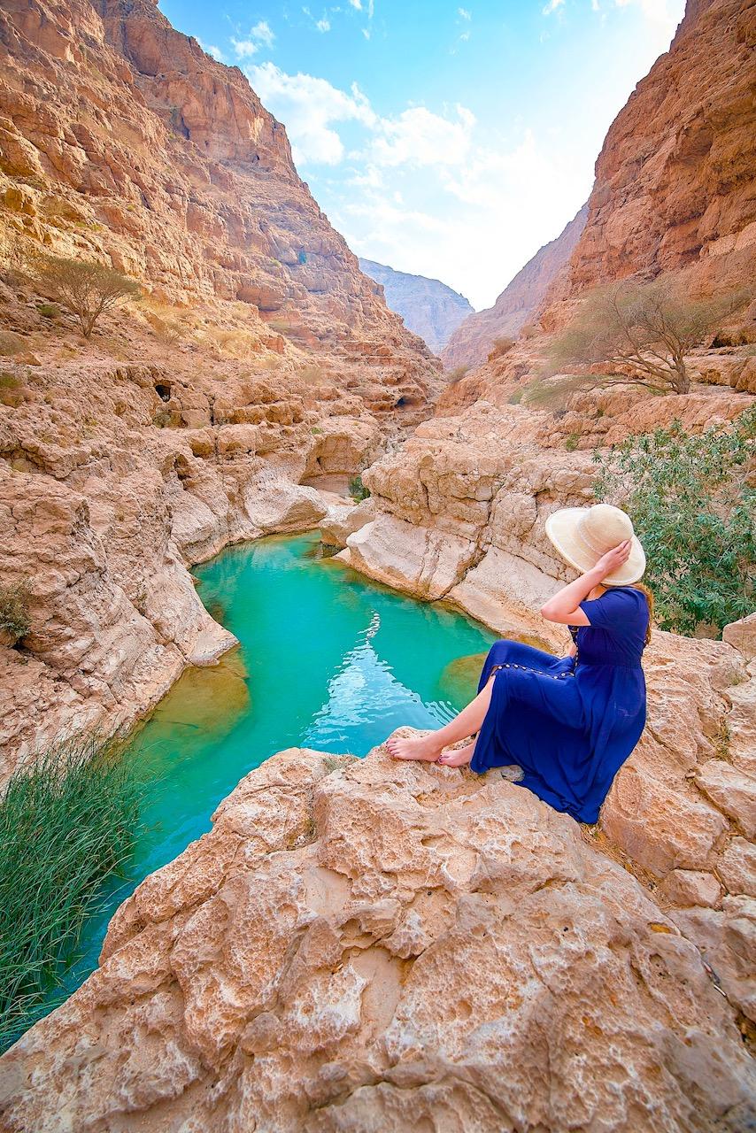 Wadi Shab, one of the prettiest wadis in Oman
