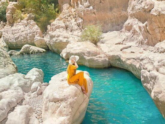 View at Wadi Bani Khalid, one of the prettiest wadis in Oman