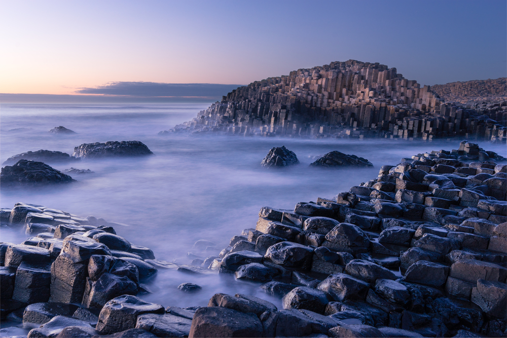 A beautiful place to visit in Ireland. Giant's Causeway at sunset