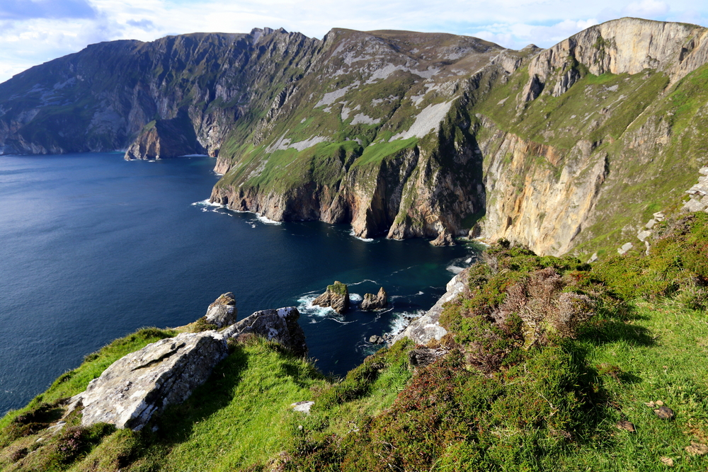 Slieve League Cliffs on a sunny day in Ireland