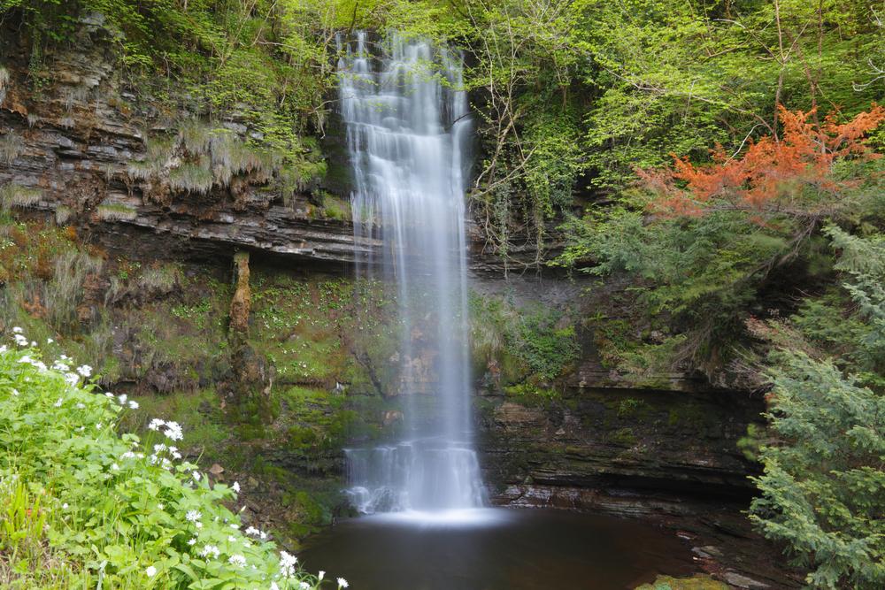 View of Glencar Waterfall, a hidden gem in Ireland