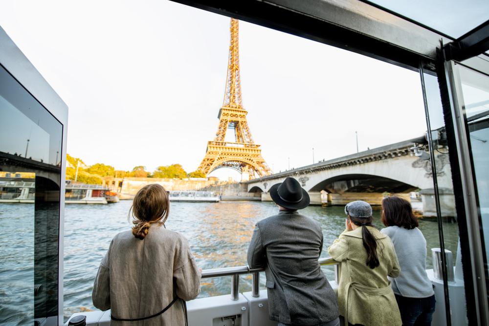 Seine river tour in Paris