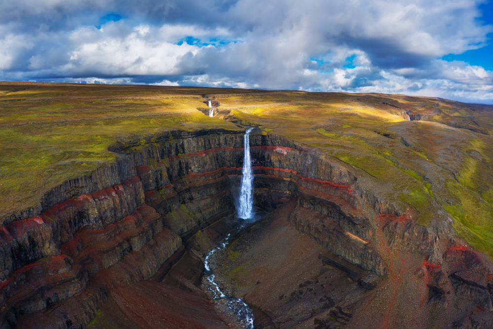 Hengifoss waterfall on the Iceland Ring Road