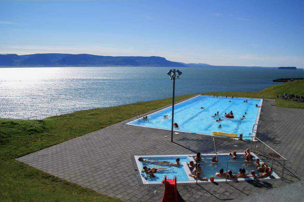 the pool in Hofsos on the Iceland Ring Road