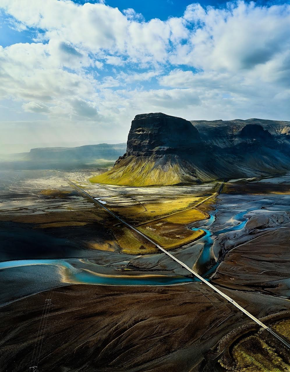 the view of Lomagnupur on the Iceland Ring Road