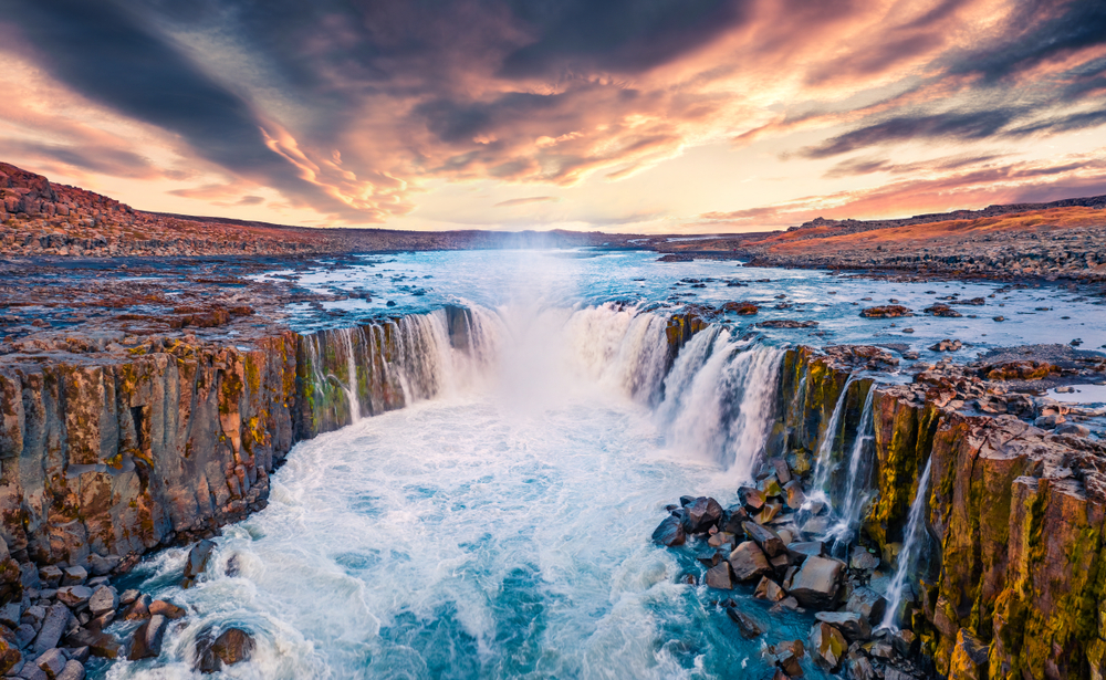 Selfoss waterfall on the Iceland Ring Road
