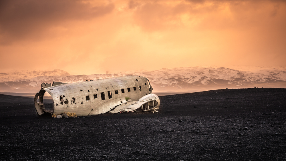 the Solheimasandur Plane Wreck on the Iceland Ring Road