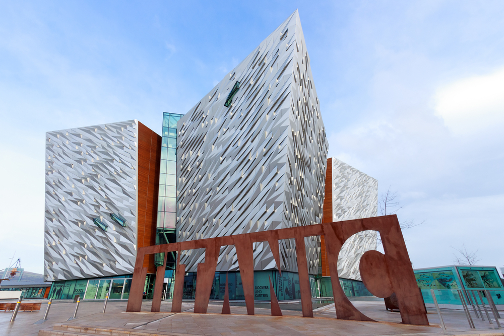 Photo of the outside of the Titanic Belfast museum. If you're wanting to learn about history, this is one of the many great things to Northern Ireland.