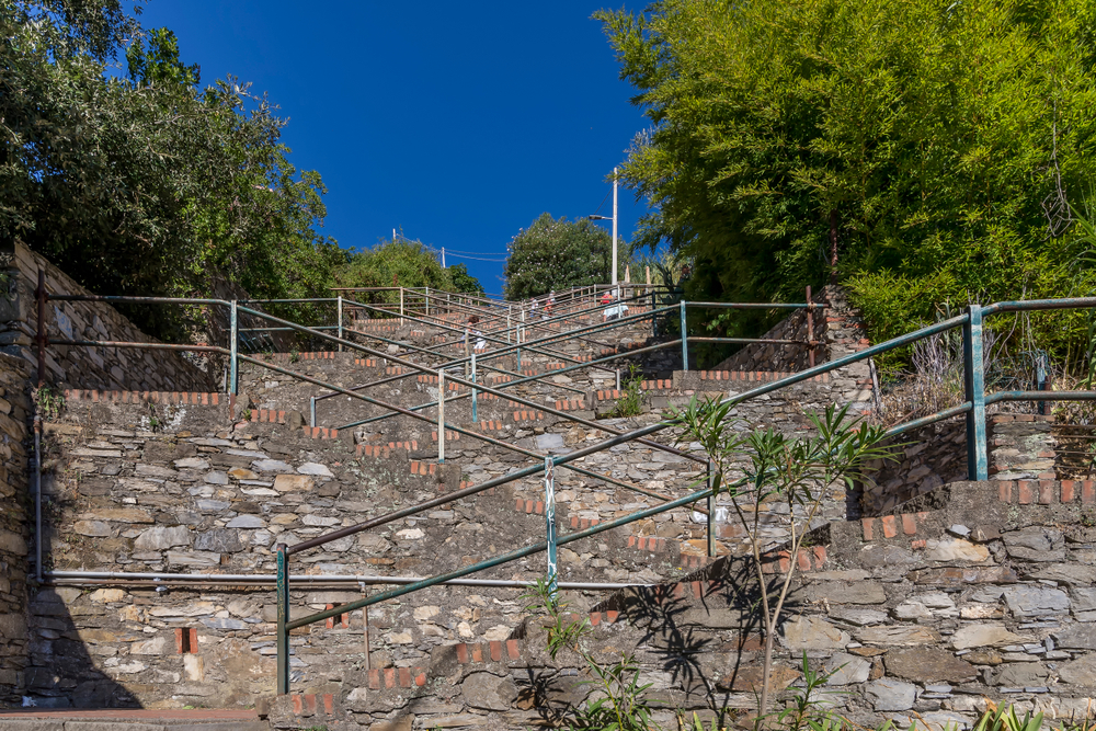 The famous stairs of Corniglia