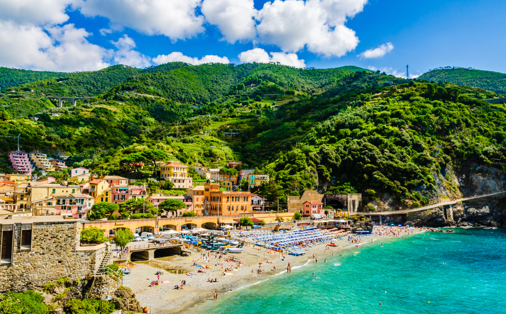 Photos of the largest of the five Cinque Terre villages Monterosso al Mare