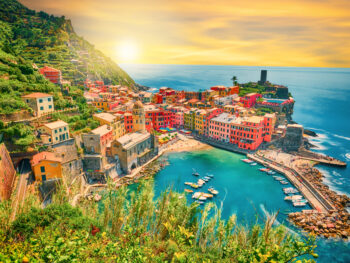 Sunset over Vernazza Cinque Terre