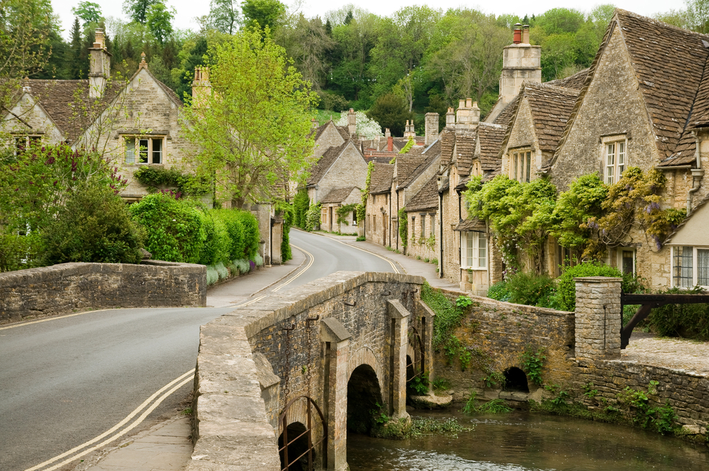 photo of the village of castle combe, considered the most picturesque village in southern england