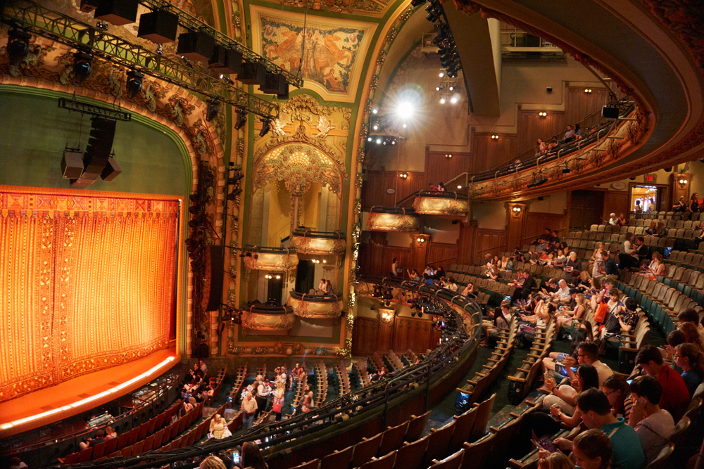 the Amsterdam Theatre on Broadway during your 4 days in New York