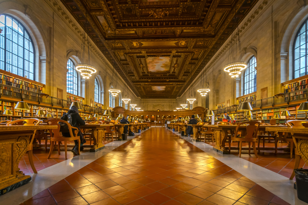 the reading room at the New York Public Library during your 4 days in New York