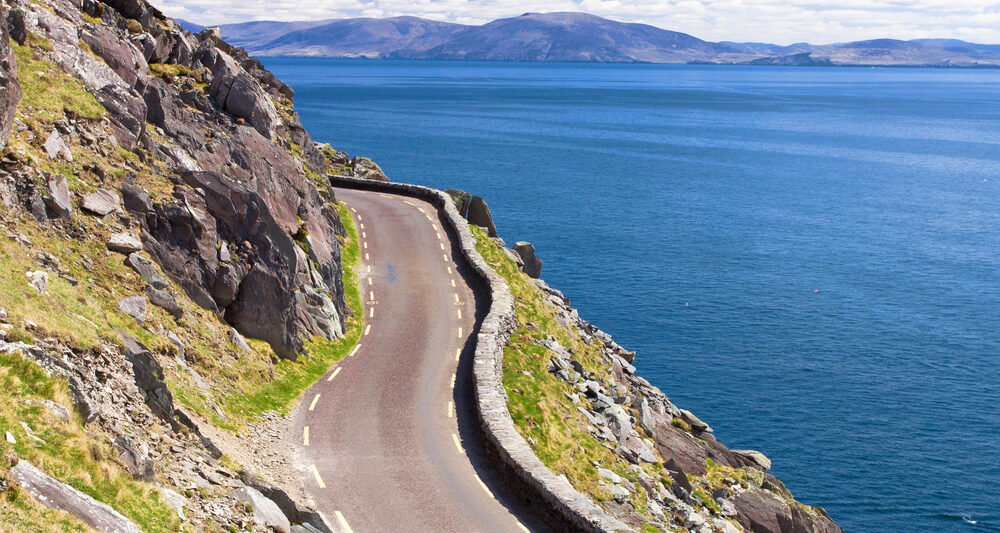These narrow roads can make driving in Ireland more challenging.