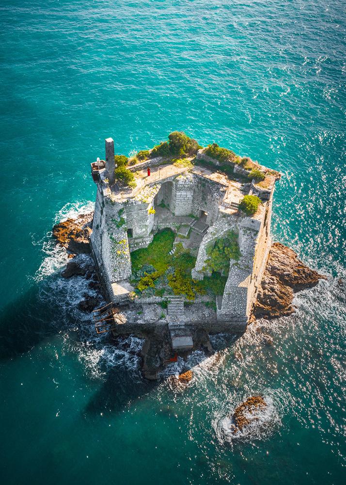 Hidden Gems in Europe Scola Tower aerial shot