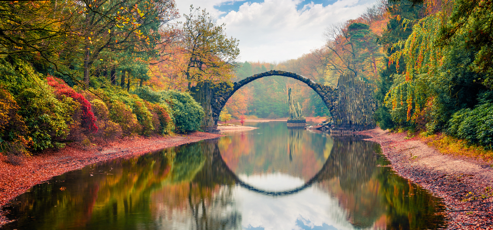 This Devil's bridge looks like a portal into another dimention, making it one of the most unique hidden gems in Germany.
