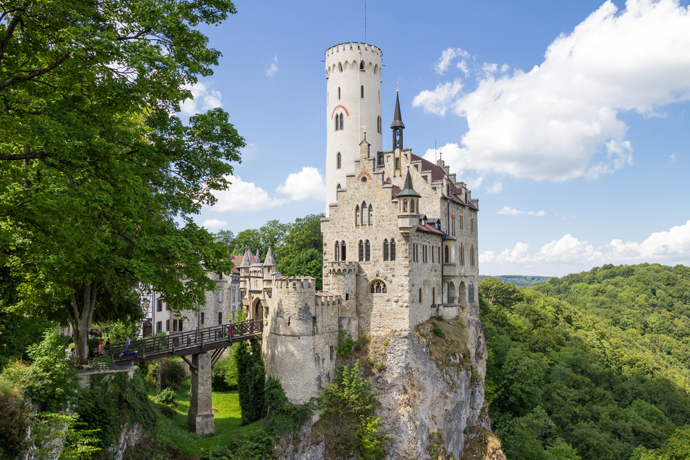 One of the best hidden gems in Germany is Lichtenstein Castle perched atop a rocky outcropping.