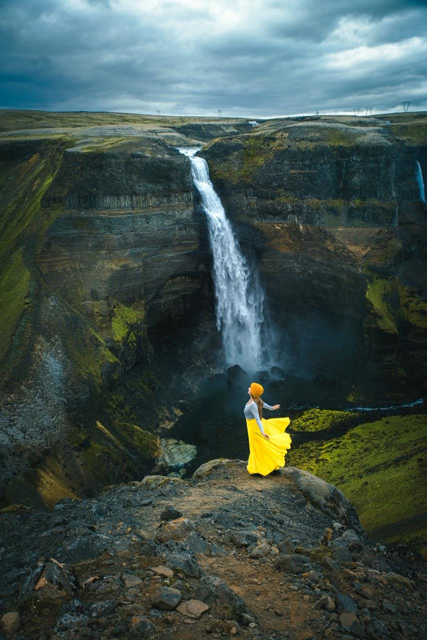 Iceland waterfalls don't get much better than this the wonderful Haifoss