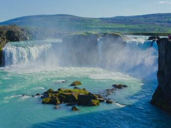 the beautiful Gulfoss Falls in Iceland