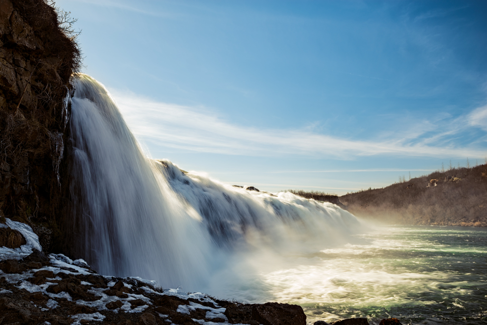 the serene and pretty Faxafoss a lovely spot to visit in Iceland