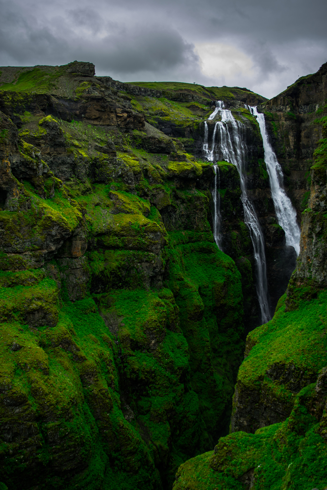 Glymur one of iceland waterfall that is in a canyon