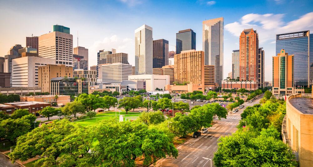 Texas Road Trip Houston Skyline