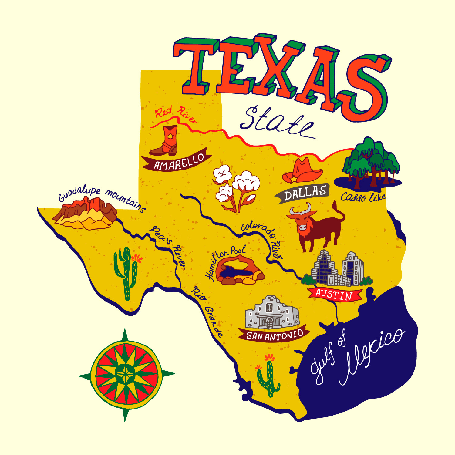 Texas Road Trip Map