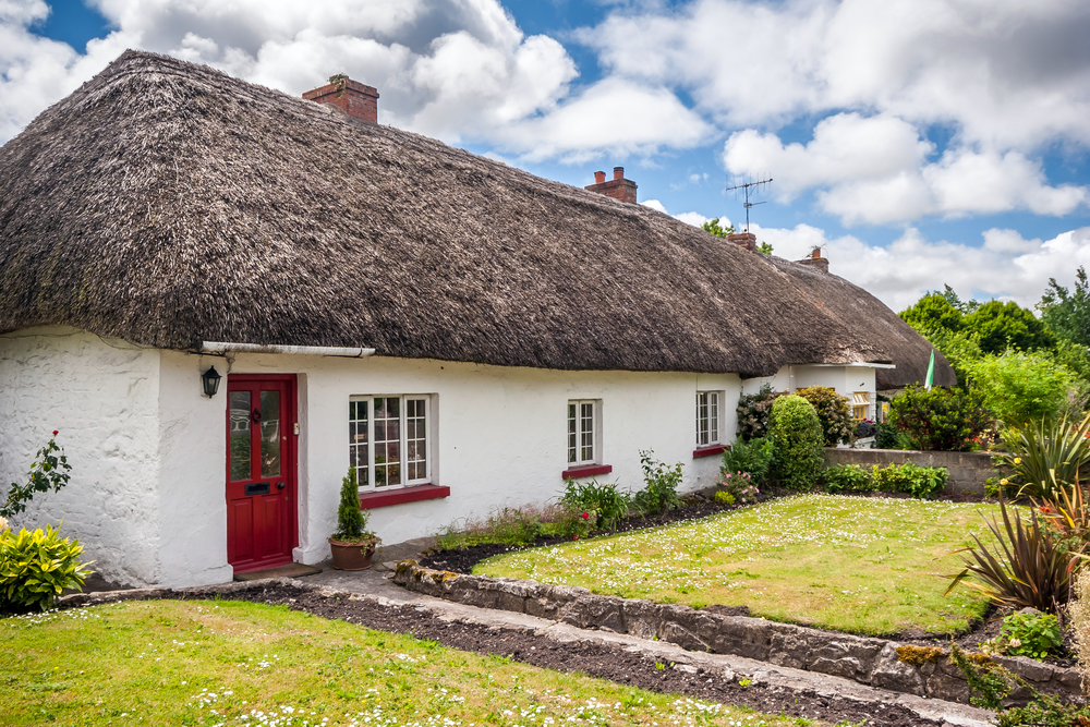 The thatched roofs in Adare make it a unique Irish town