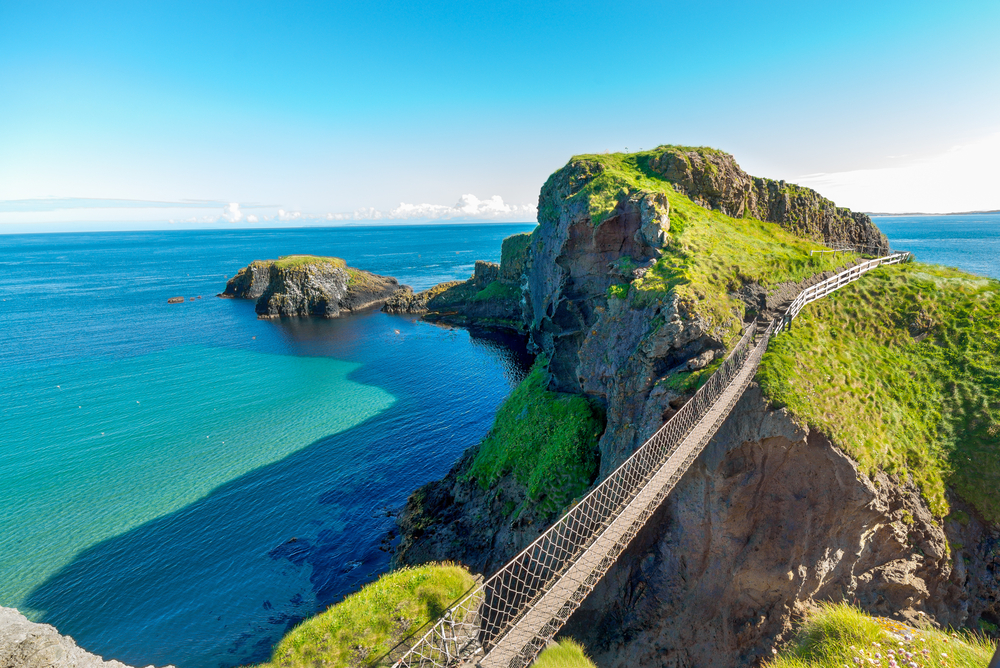 Enjoy the views as you cross Carrick-a-Rede