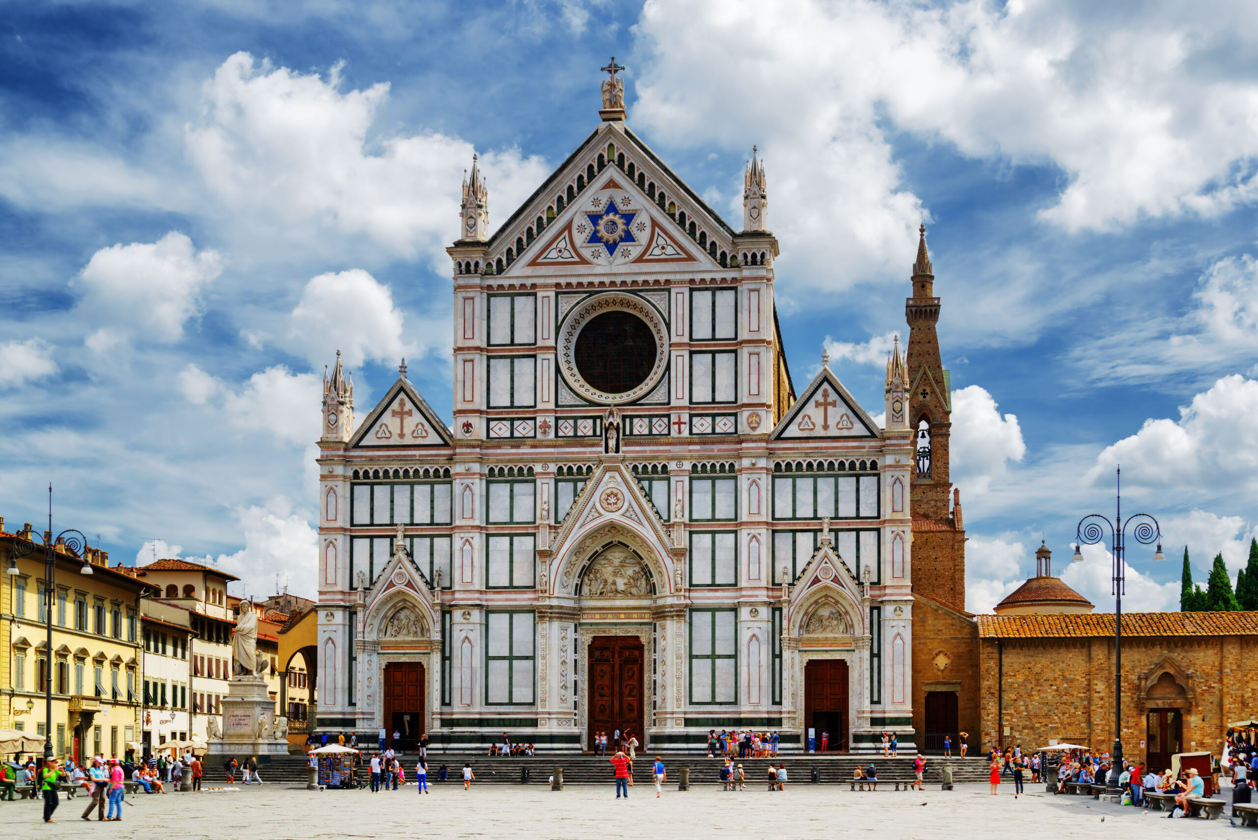 The Basilica di Santa Croce (Basilica of the Holy Cross) on square of the same name in Florence, Tuscany, Italy.