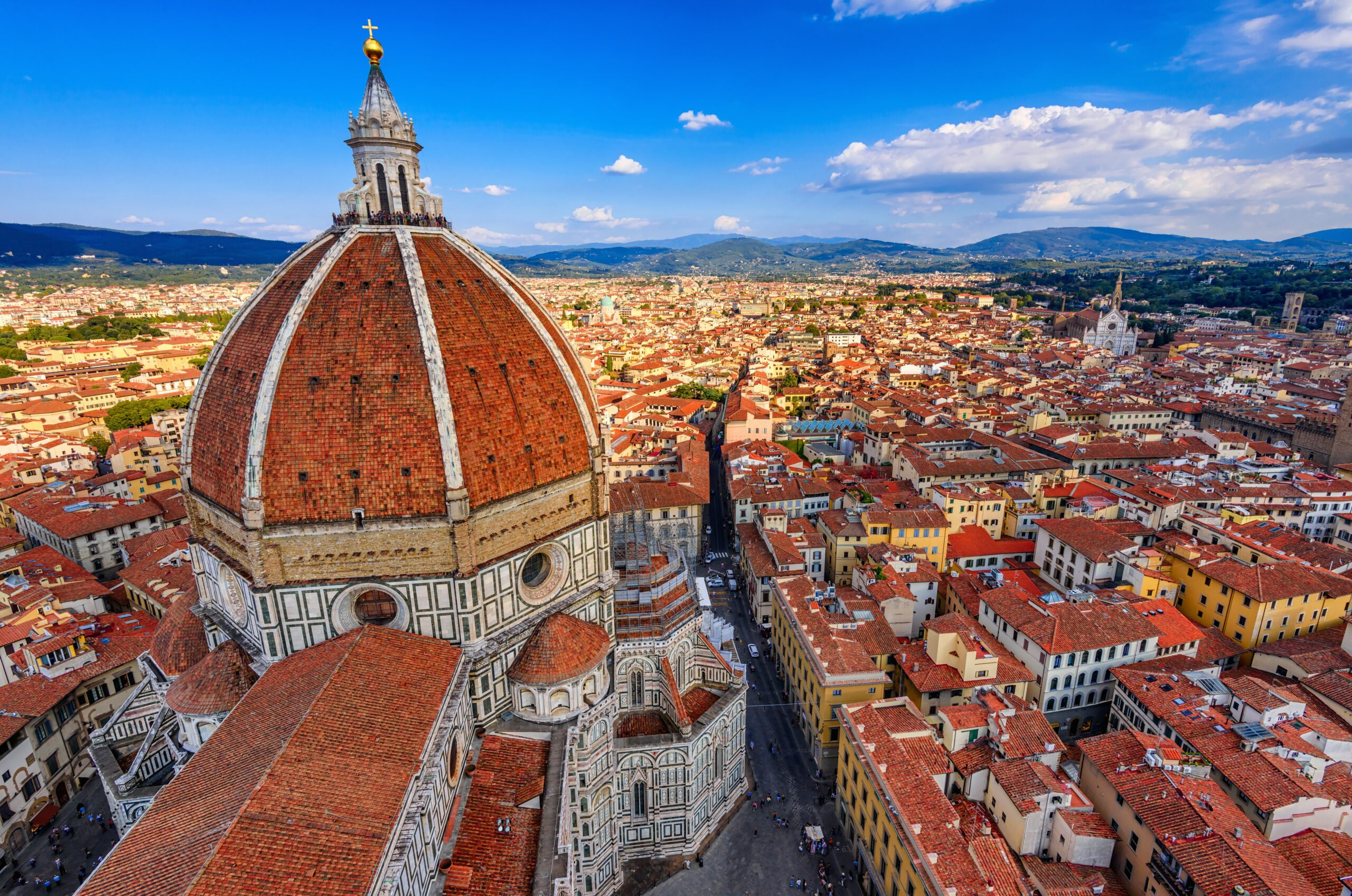 Florence Duomo. Basilica di Santa Maria del Fiore (Basilica of Saint Mary of the Flower) in Florence, Italy. Florence Duomo is one of main landmarks in Florence