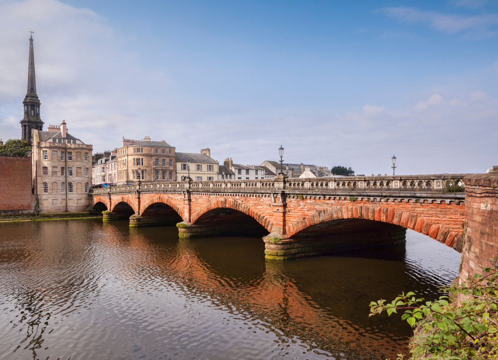 Bridge over the River Tay in Ayr