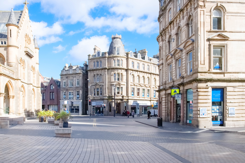 Downtown Dundee, one of the best places to see in Scotland for exploring naval history