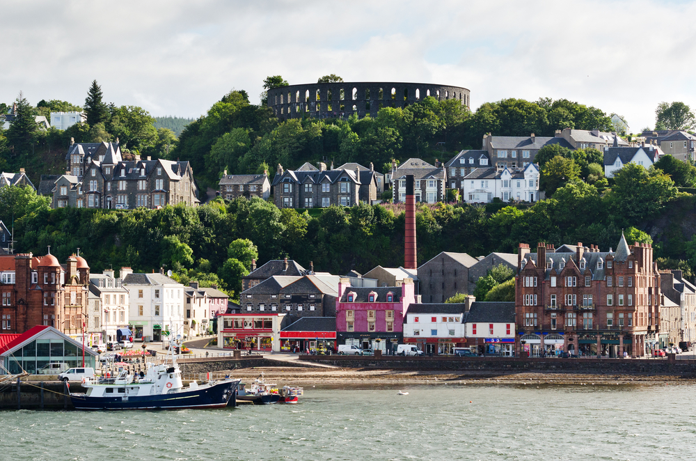 Seaside view of the Port of Oban