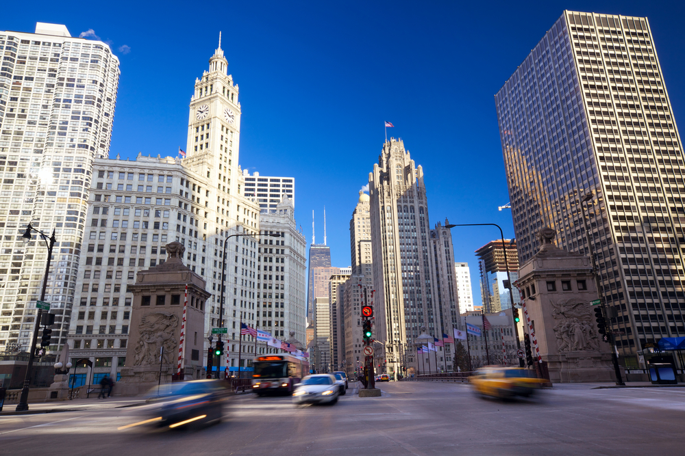 Walk the Magnificent Mile on your 2 days in Chicago