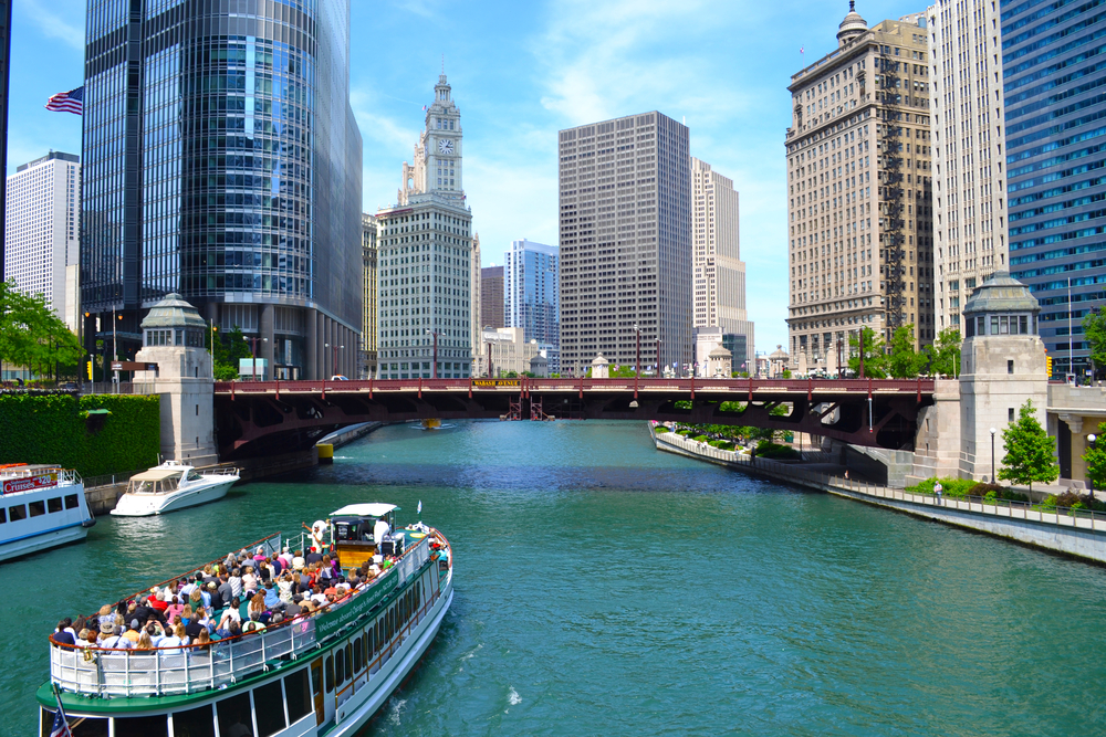 The Chicago Architecture River Cruise will be a relaxing activity during your 2 days in Chicago