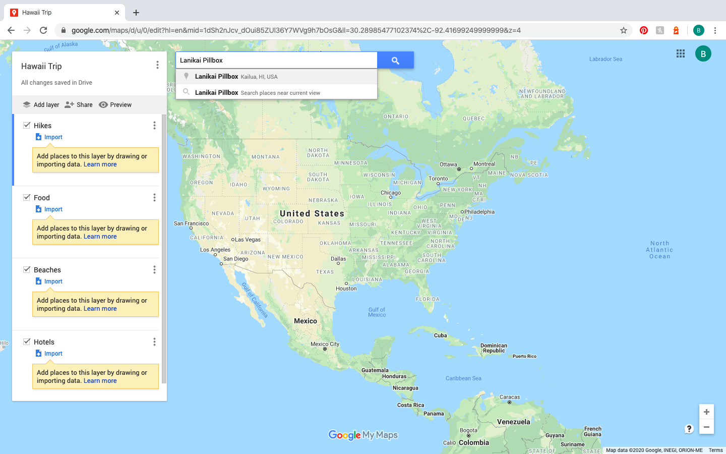 searching for location on Google Maps