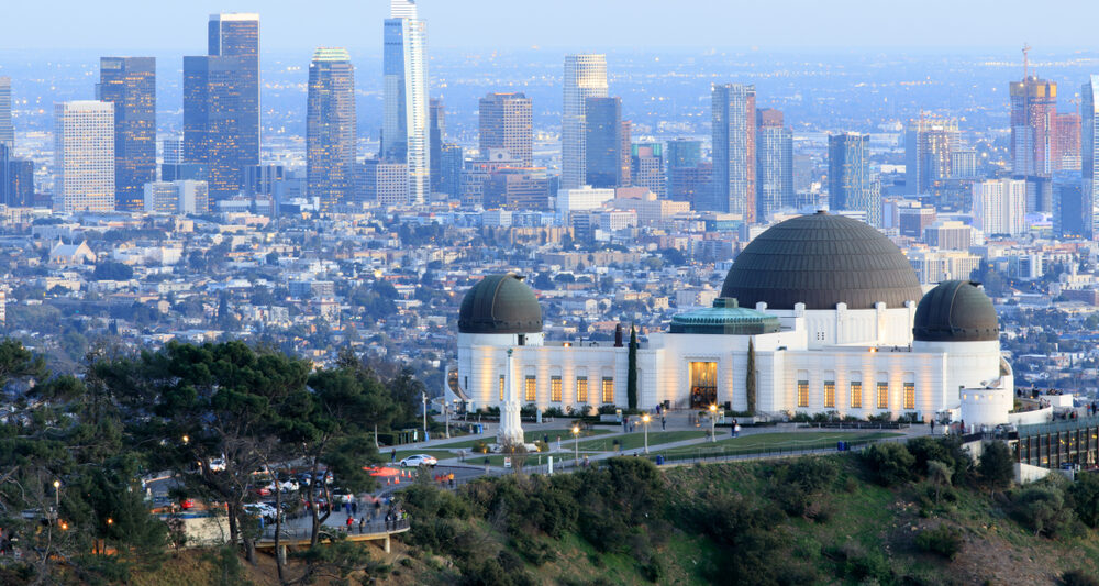 View from the Griffith Observatory to Downtown Los Angeles