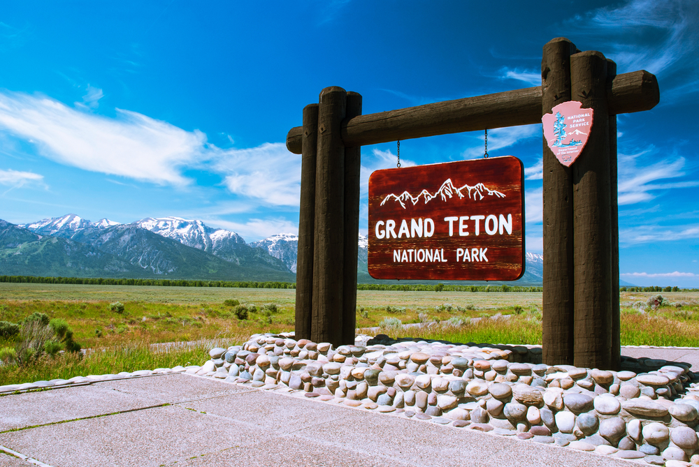 Photo of Grand Teton National Park Sign
