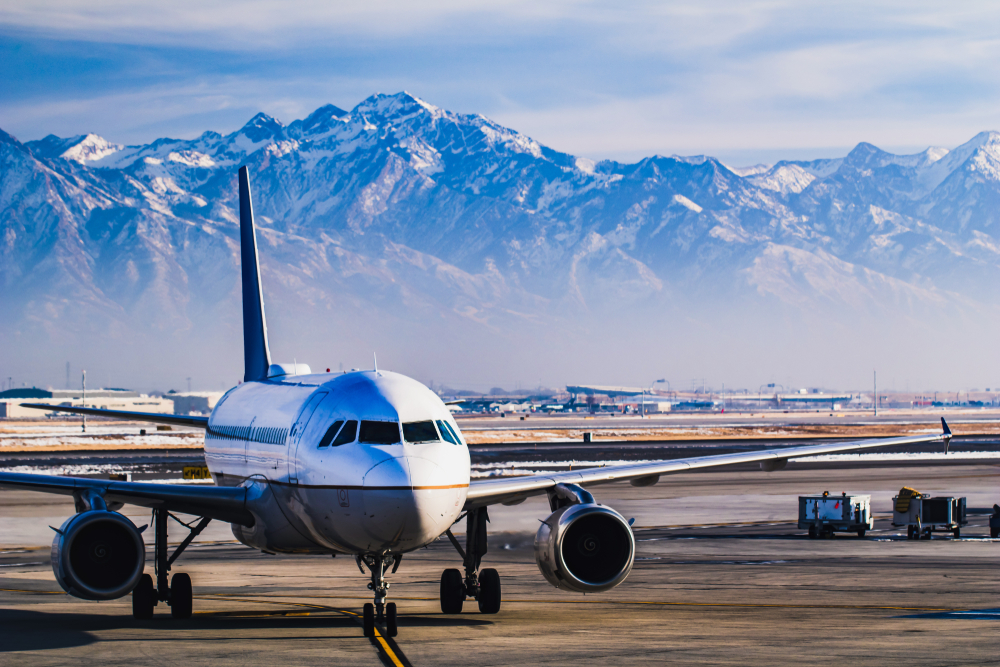 Photo of Salt Lake City Airport, the airport you will want to use to begin your Yellowstone road trip