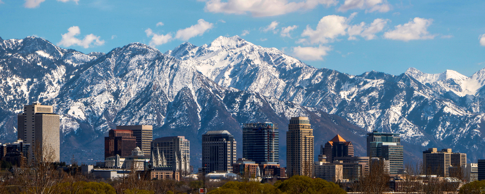 Photo of Salt Lake City, the first stop on your Yellowstone itinerary.