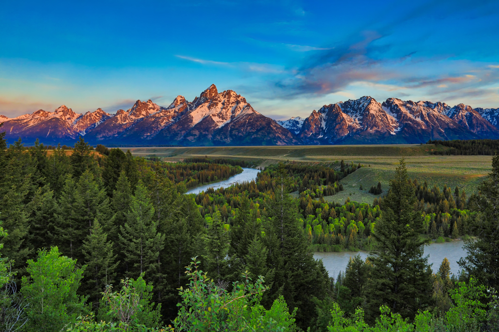 Photo of Snake River, an adventurous stop for your Yellowstone itinerary.
