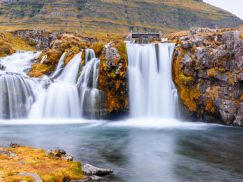 Kirkjufellsfoss waterfall during your trip to Iceland in September