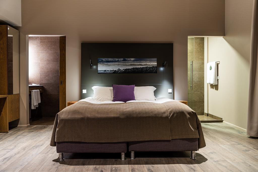 Photo of a guest room at Hotel Vik i Myrdal located in Vik Iceland. One of the best hotels in Vik.