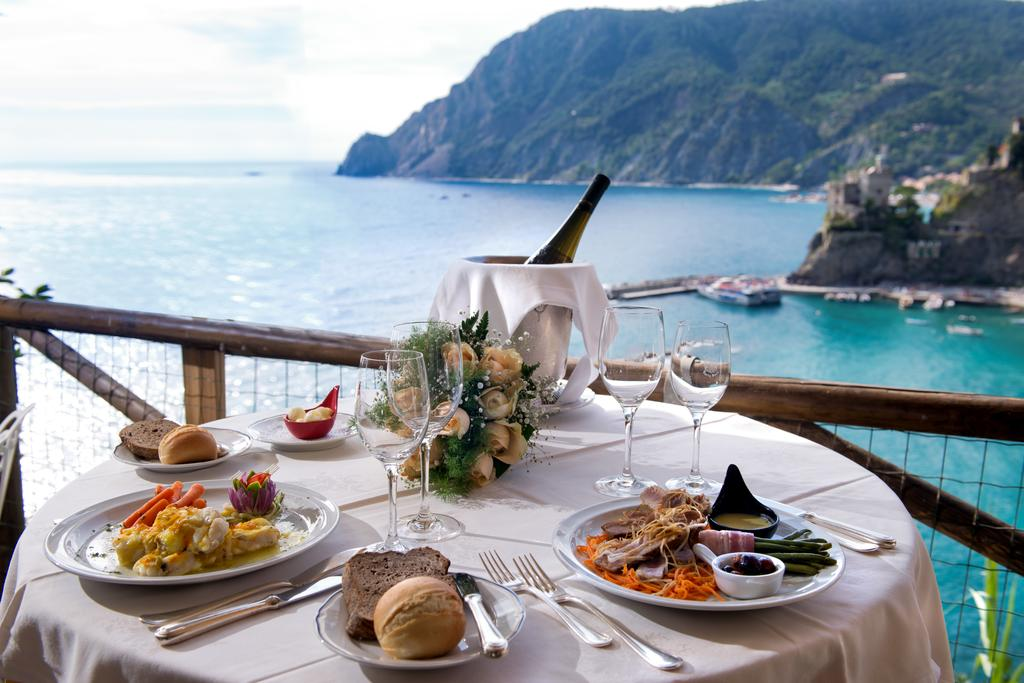 The cliffside location makes Hotel Porto Roca one of the best luxury hotels in Cinque Terre