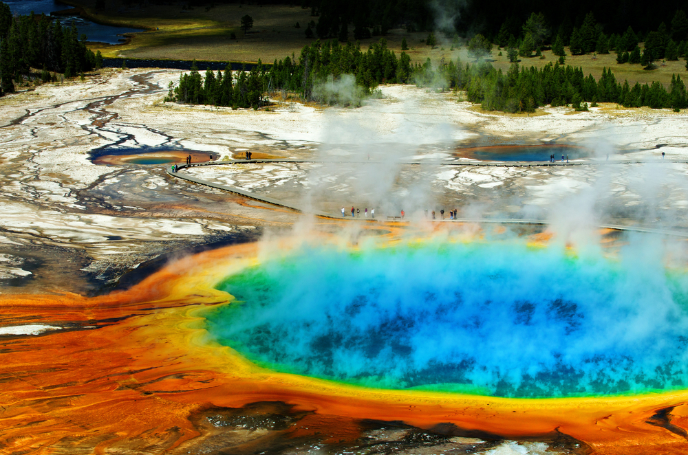 Yellowstone has some of the most iconic natural landmarks